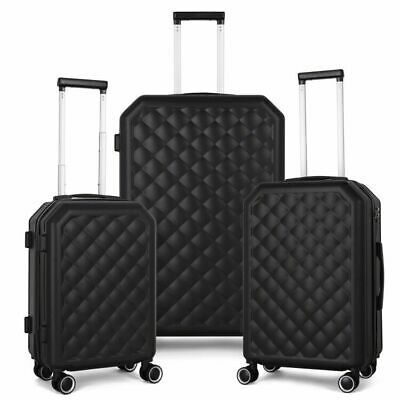3-Piece Luggage Set HardShell 202428 with Spinners Lock Lightweight ABS-PC