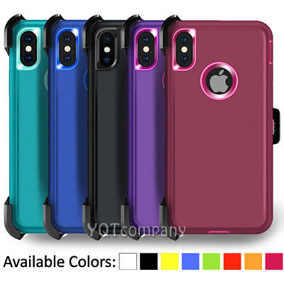 Shockproof Case Cover For iPhone XR XS Max 11 12 Pro Max w Clip Belt Holster
