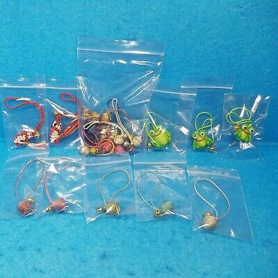 Charms for Cell Phone Assorted 22 Piece LOT with Bells