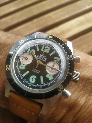 Vintage swiss military chronograph All Steel NOS