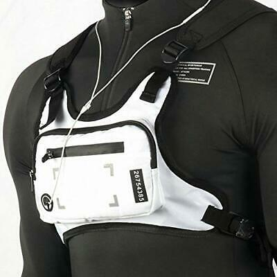 Running Backpack Vest Cell Phone and Accessories Holder Lightweight Pack white