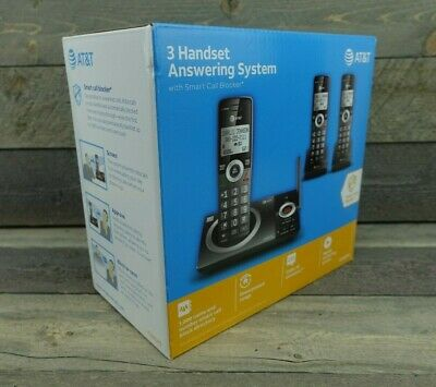 AT-T CL82319 3 Handset Cordless Telephone with Smart Call Block - NEW SEALED