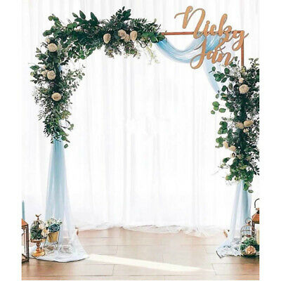 Rectangle Wedding Arch Backdrop Birthday Party Metal Stand Balloon Frame 2mx2m