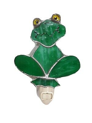 Vintage Frog Stained Glass Night Light