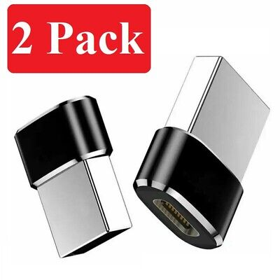 2 PACK USB C 3-1 Type C Female to USB 3-0 Type A Male Port Converter Adapter BLK