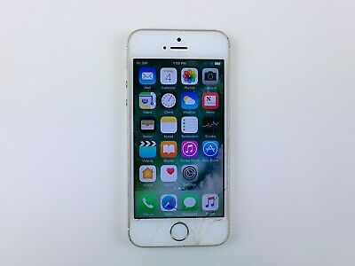 Apple iPhone 5s A1533 16GB - Gold AT-T Smartphone Cracked Clean IMEI K1255