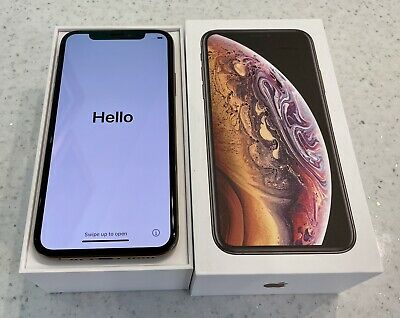 Gold Apple iPhone XS 64GB Unlocked Excellent Condition With Original Box 1 of 2