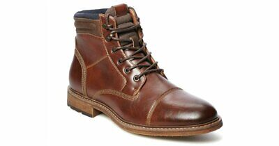 Mens Brown Cognac Ankle Boots Size 10-5 SONOMA Goods for Life® Sheldon NEW
