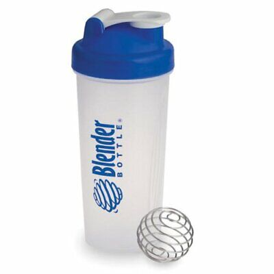 Blender Bottle Classic 28 oz- Mixer Shaker Cup Blue with Snap Lid NEW