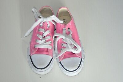 AIRWALK Canvas Youth 10-5 Bubblegum Pink Girls Skate Style Shoes PreOwned EUC