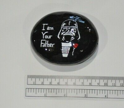 Fathers Day Hand Painted Rock I am Your Father Darth Vader Godfather Star Wars