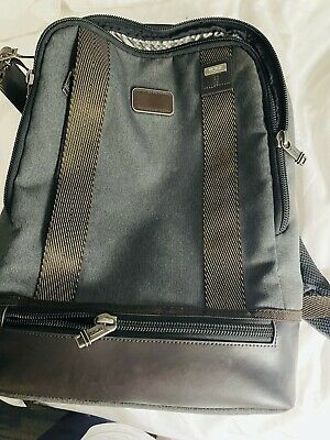Auth TUMI Alpha Dover 222682AT2 Gray Beige TUMINylon Leather Backpack