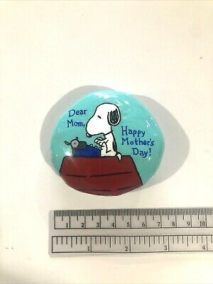 Hand Painted Rock Mothers Day Snoopy Peanuts Gift Collectible