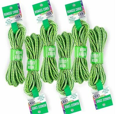 Lot of 2 Bungee Cord Shock Cord Horizon Group Craft 18 x 18ft 5-49m Neon NEW