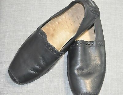 Leather Mens Driving Shoes Mocs Zeeta Size 9-5 M Black Loafer Casual PreOwned