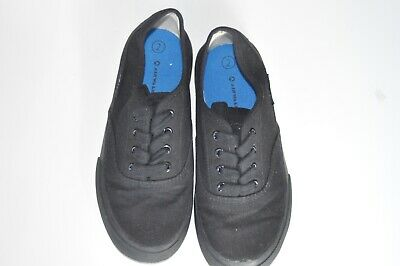 AIRWALK Black Canvas Youth 2 Boys Girls Skate Style Shoes PreOwned EUC