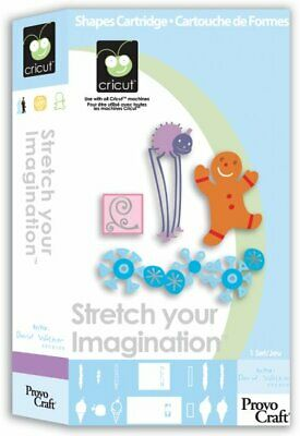 Cricut STRETCH YOUR IMAGINATION Cartridge 29-0422 with Box PREOWNED