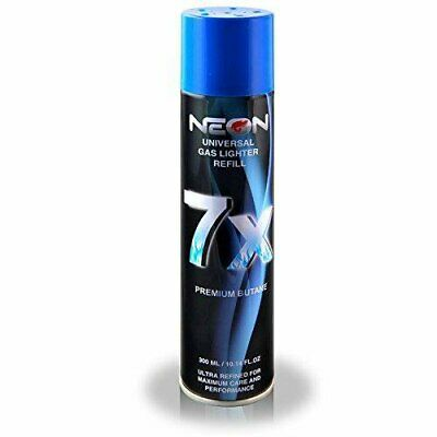 1 CT Neon 7x Refined Butane Gas 300ml Filtered Lighter Refill Fuel FREE SHIPPING
