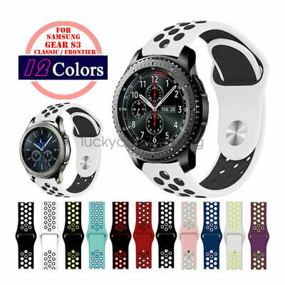 Watch Band For Samsung Gear S3 Classic Frontier 22Mm Silicone Sports Wrist Strap
