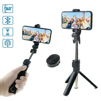 Extendable Wireless Bluetooth Selfie Stick Tripod Remote Cellphone Stand 4 in 1