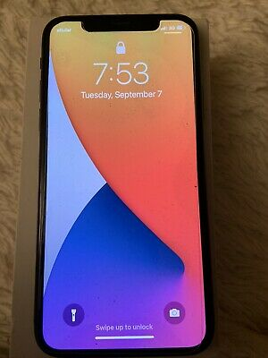 Apple iPhone X Fully Unlocked 64GB - Space Gray Otterbox Phone Case New Glass