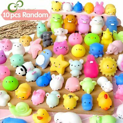 10Pcsset Mini Mochi Squishy Toys Party Favors for kids Animal Stress Relief Toy