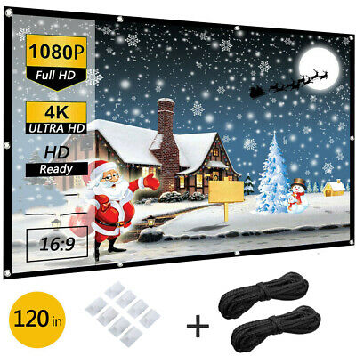 120 Portable Foldable Projector Screen 169 HD Outdoor Home Cinema Theater