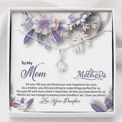 2021 MotherS Day Gift From Daughter Necklace Anniversary Gift for Her