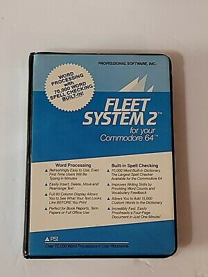 Commodore Computer 64 128 Fleet System 2 Word Processing Software