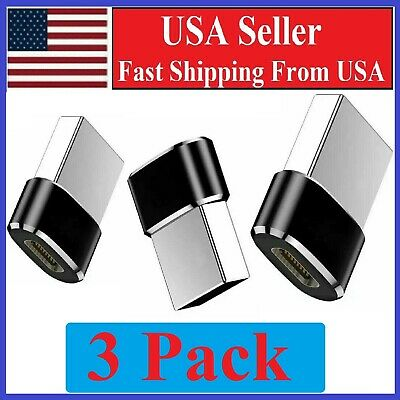 3 PACK USB C 3-1 Type C Female to USB 3-0 Type A Male Port Converter Adapter BLK