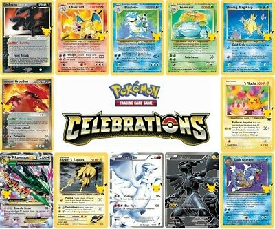 2021 Pokemon Celebrations Singles - Choose Your Card - Many Available All NM
