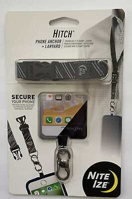 Nite Ize Hitch Phone Anchor-Lanyard  Smartphone Drop - Theft Protection BLACK