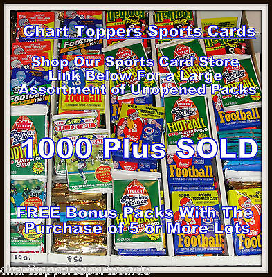 Unopened Old Vintage Football Cards Wax Cello Rack Packs - Huge Lot of 100 Cards