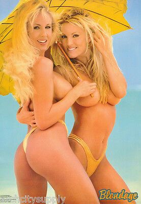 POSTER  BLONDAGE II  - SEXY FEMALE MODELS -  FREE SHIPPING   3115  LP53 M