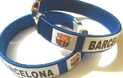 New FC Barcelona Soccer Football Team Wristband Wristlet Bracelet