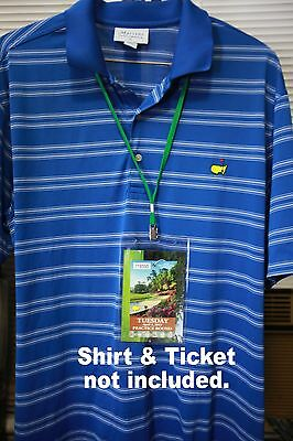 2018 Masters Ticket Badge Holder Augusta National Golf Amen Corner Azalea PGA