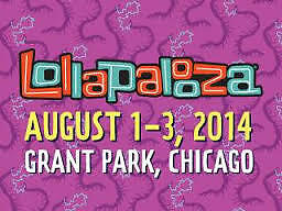 3 DAY VIP PASS Lollapalooza tickets 2014 1 ticket