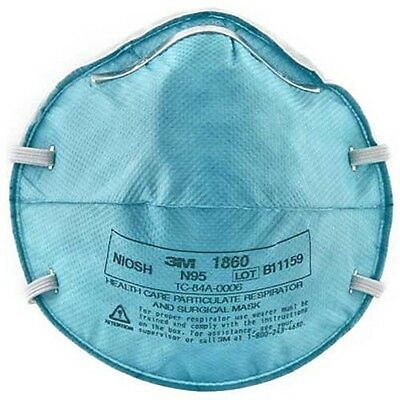 3M 1860 N95 PARTICULATE RESPIRATOR SURGICAL FACE MASK REGULAR ADULT 20BX