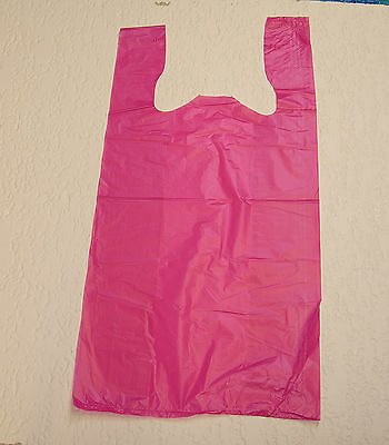 Plastic T-Shirt Bags with Handles You Pick Lot - Colors - Size