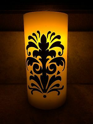 Vinyl Damask Sticker • Dress Up A Candle • Decorate A Candle • Battery Candle