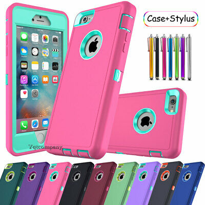 For iPhone 6S 7 8 Plus XS Max XR 11 PRO Case Hybrid Hard Heavy Duty Rubber Cover