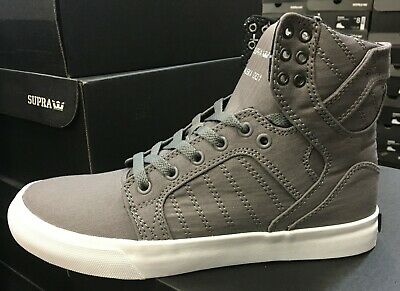 Supra SKYTOP S18242 Men Skate Grey White Black Sz7-10 Fast Shipping