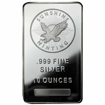 10 oz Sunshine Silver Bar New MintMark SI