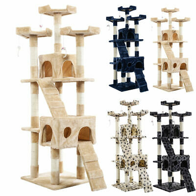 New 66 Cat Tree Tower Condo Furniture Scratching Post Pet Kitty Play House