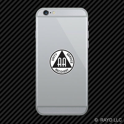 AA Alcoholics Anonymous Symbol Cell Phone Sticker Mobile Die Cut
