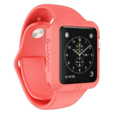 LUVVITT ULTRA ARMOR High Performance Flexible Apple Watch Case 42mm - Pink