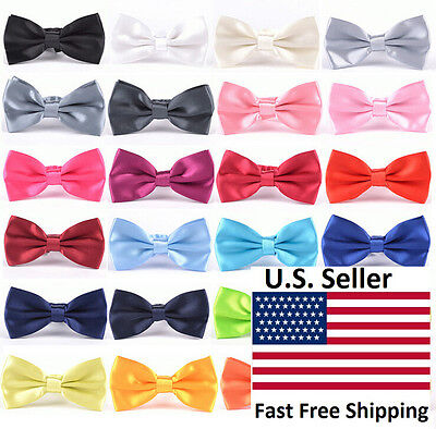 Classic 35-Color Fashion Mens Adjustable Tuxedo Bowtie Wedding Bow Tie Necktie