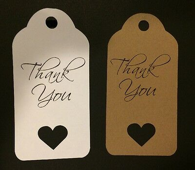 24 - Thank You • Cardstock Tags With Heart Cut