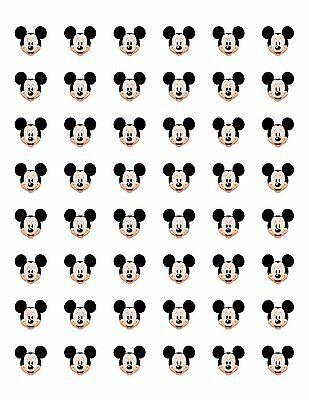 48 MICKEY MOUSE FACE ENVELOPE SEALS LABELS STICKERS 1-2 ROUND