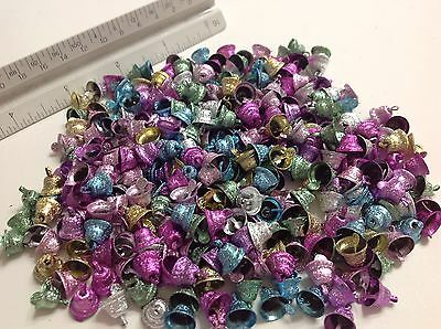 50 pieces Colorful Metal Craft Christmas Bells Supplies 10mm